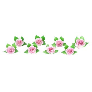 Porcelain Rose Place Card Holders - Set of 8