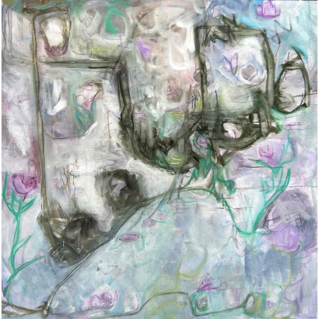 "Trixie Pitts's ""Monkey Business"" Large Abstract Painting - Image 1 of 6"