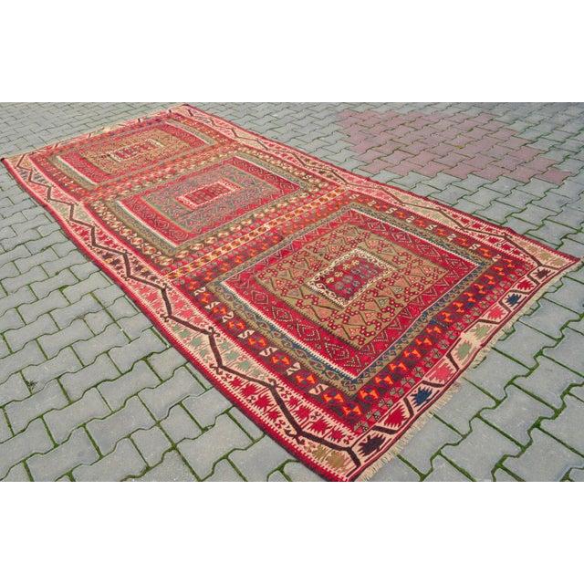 Camel Wool Rug Persian Rug Handwoven Kilim Area: Antique Hand Woven Turkish Wool Kilim Area Rug