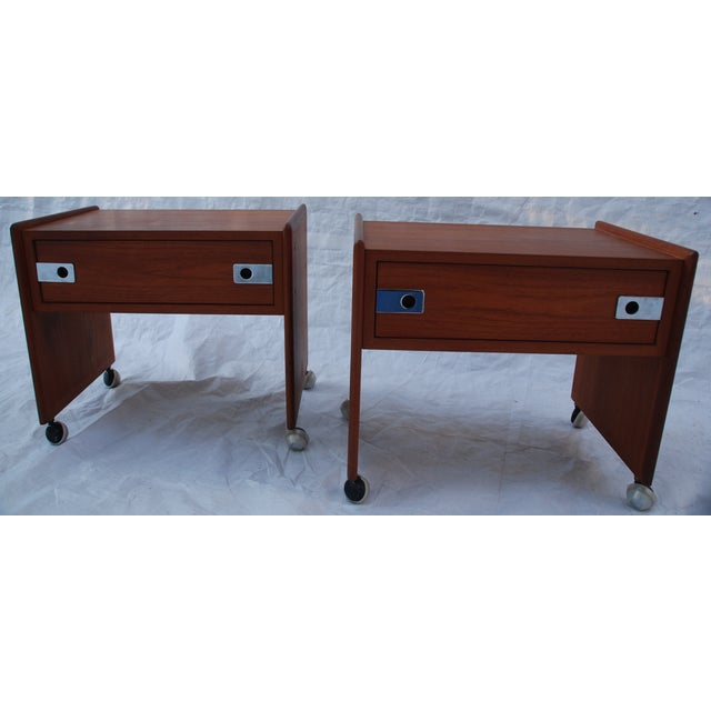 Mid Century Teak Night Stands - A Pair - Image 3 of 8