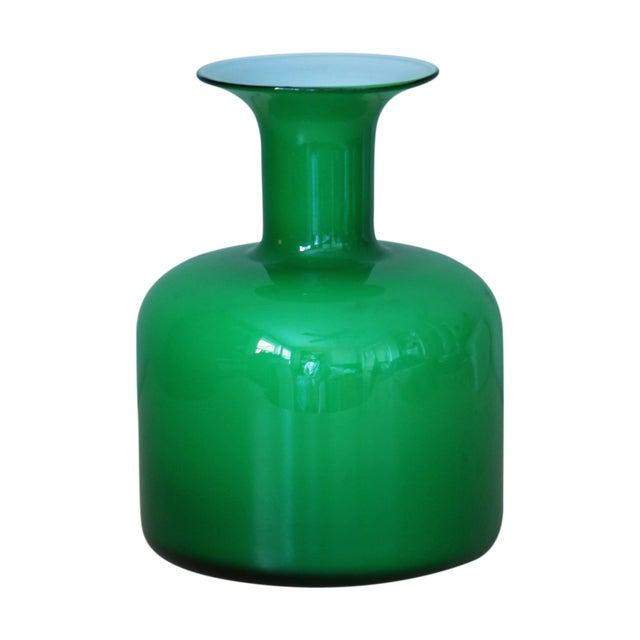 Green Holmegaard Glass Vase - Image 1 of 3