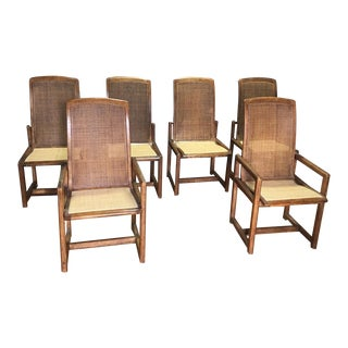 Drexel Heritage Cane Back Dining Chairs - Set of 6