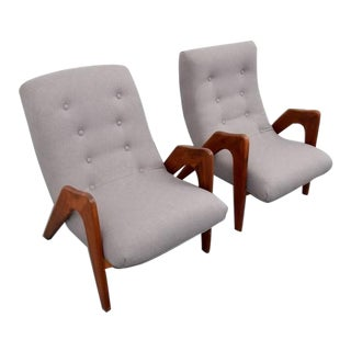 Pair of His and Hers Pearsall Lounge Chairs, USA, 1960s