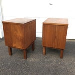Image of Mid-Century Modern Nightstands - A Pair