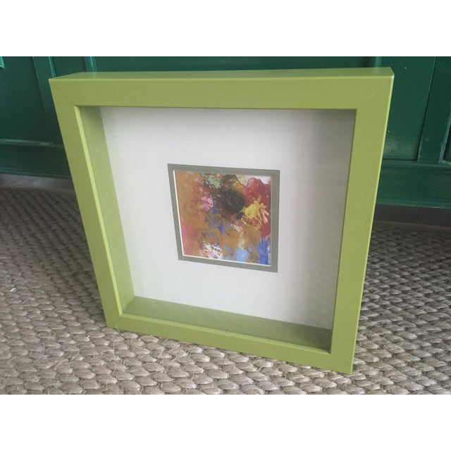 Original Abstract Painting Framed and Matted - Image 3 of 5