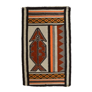 Mid-Century Wool Tapestry Rug