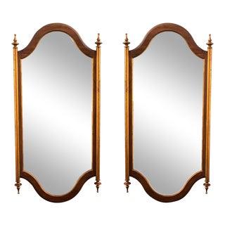Mid-Century Walnut Mirrors - A Pair