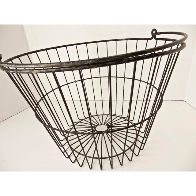 Rustic Industrial Wire Egg Basket - Image 6 of 7