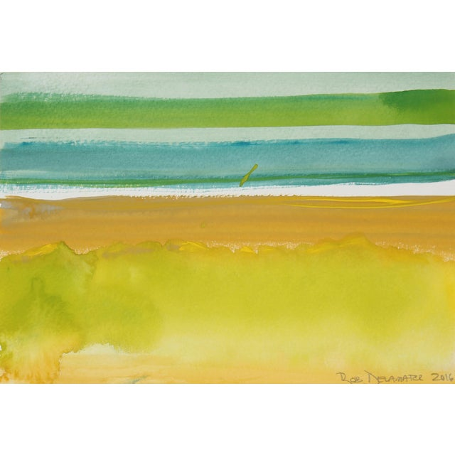 """Yellow and Green Horizon"" - Image 1 of 2"