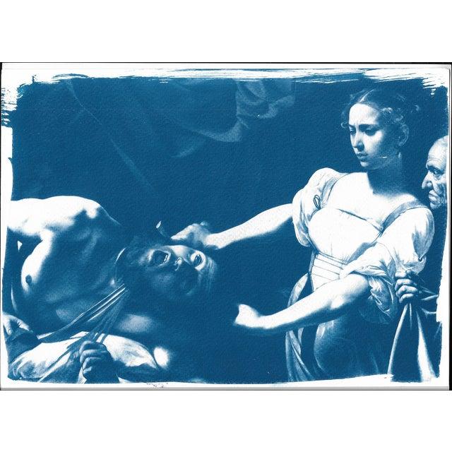 Image of Cyanotype Print - Caravaggio Painting