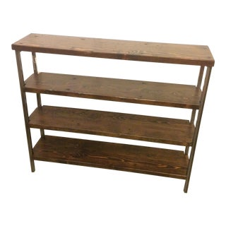 Reclaimed Wood 4-Tier Shelf