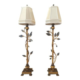 Foundry Crystal Table Lamps - A Pair