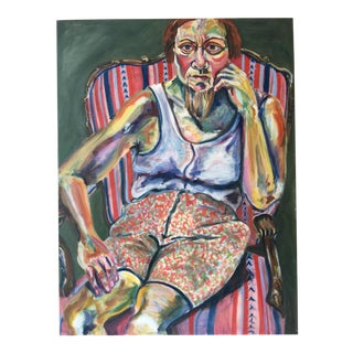 Modern Portrait Painting in Style of Alice Neal