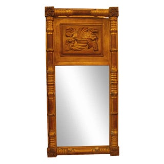 Antique Gold Gilded Wooden Frame Trumeau Mirror