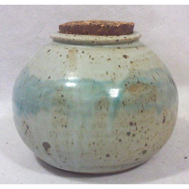 Image of Mid-Century Studio Pottery Stoneware Cookie Jar