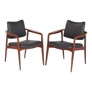 Sigvard Bernadotte Danish Modern Armchairs - A Pair