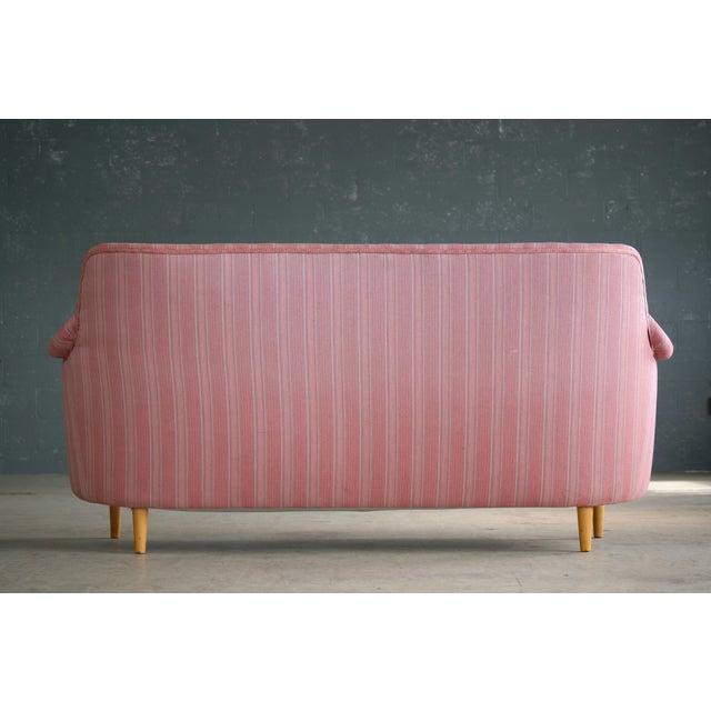 Scandinavian Carl Malmsten Sofa Model Samsas for O.H. Sjogren, Midcentury - Image 8 of 10