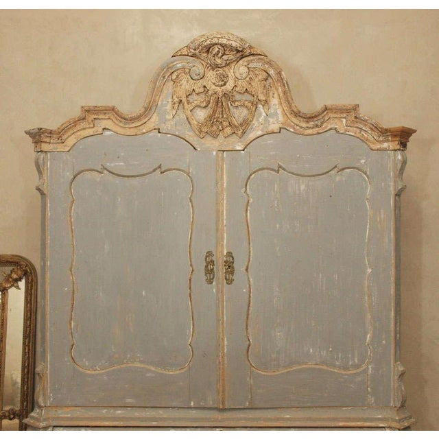 19th C Dutch Painted Buffet Deux Corp - Image 4 of 11