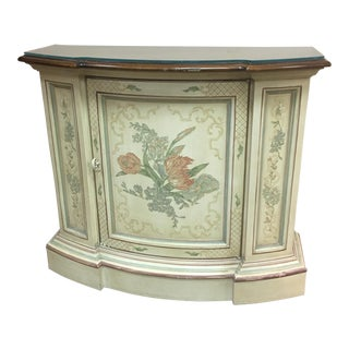 Transitional Drexel Hall Table With Glass