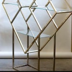 Image of Milo Baughman Brass Diamond Etagere