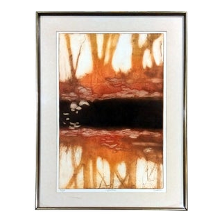 "Ruth Rodman ""Reflection"" Aquatint Etching"