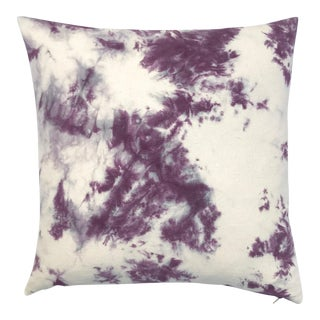 Hand Dyed Purple Throw Pillow