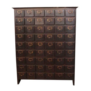 Multi-Drawer Card Catalog Organiser
