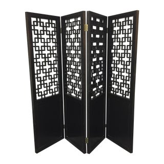Custom Made Four Panel Wooden Screen