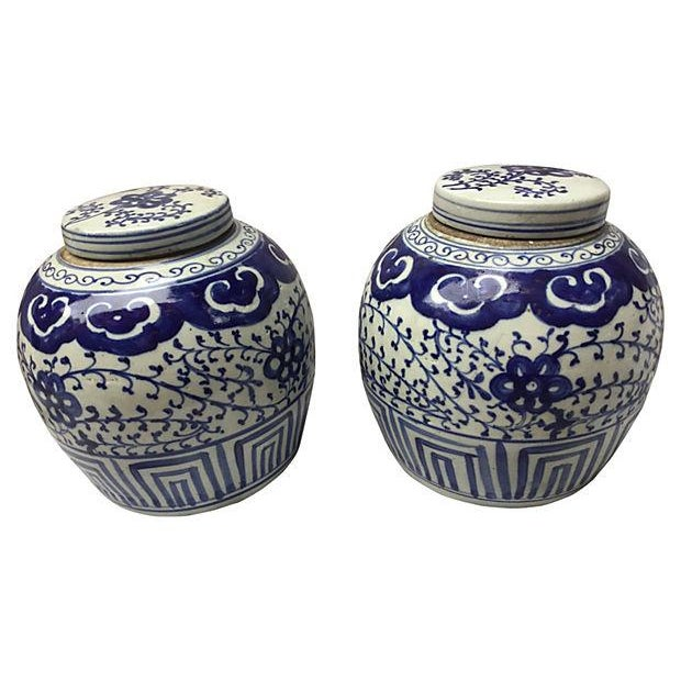 Chinese Hand-Painted Jars - Pair - Image 2 of 5