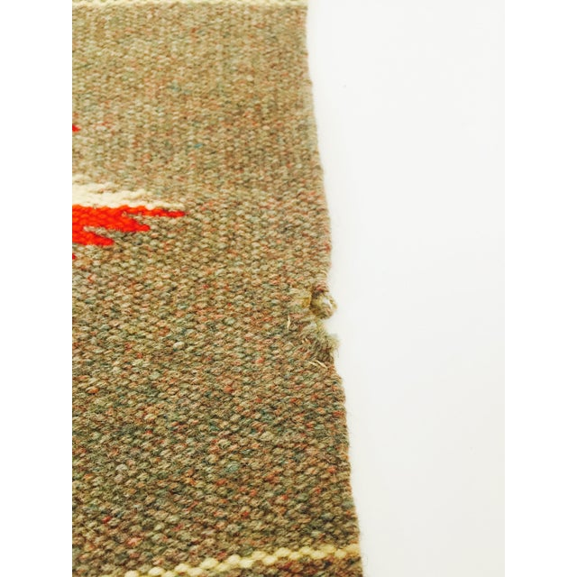 Vintage Gray Mexican Rug - 1′2″ × 2′6″ - Image 5 of 5