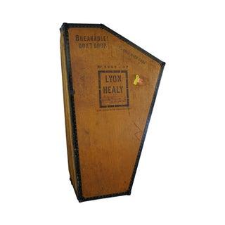 Antique Lyon Healy Grand Harp Case Steamer Trunk