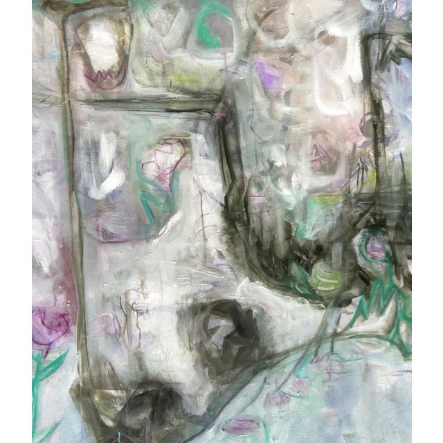 "Trixie Pitts's ""Monkey Business"" Large Abstract Painting - Image 6 of 6"