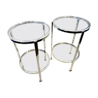 Charles Hollis Jones Circular Side Tables - Pair