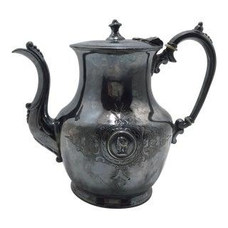 Antique European Petite Silverplate Tea Pot