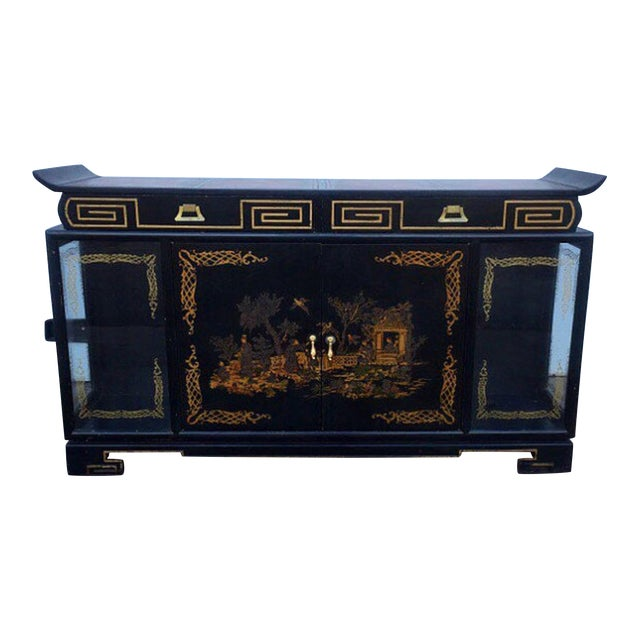 Image of 1937 James Mont Asian Influenced Cabinet