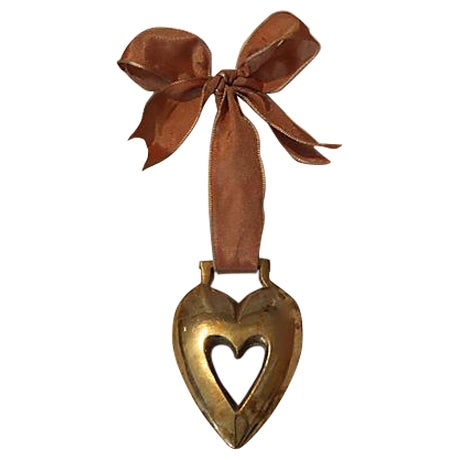 Antique English Horse Brass Heart Ornament - Image 1 of 3