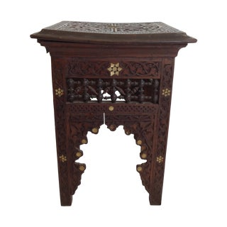 Victorian Era Moroccan Side Table