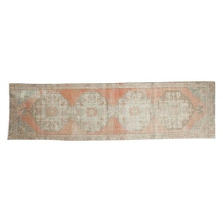 "Vintage Distressed Oushak Rug Runner - 2'6"" x 8'11"""