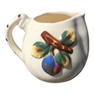 Artistic Pottery of California Embossed Fruit Pitcher