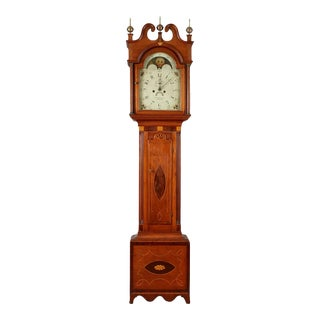 ELI PORTER INLAID TALL CASE CLOCK