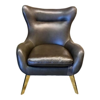 Caracole Mid-Century Inspired Leather Chair