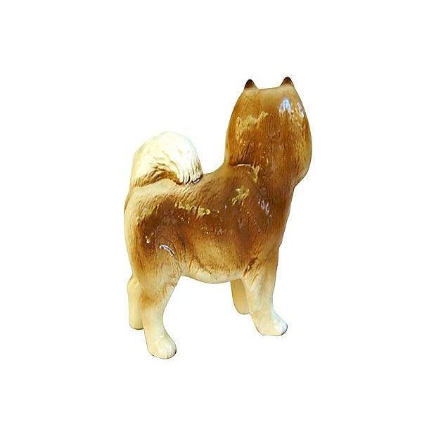 Image of 1960s English Coopercraft Husky Dog Figurine