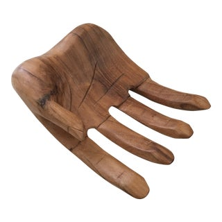 Hand Carved Solid Wood Hand Sculpture Tray