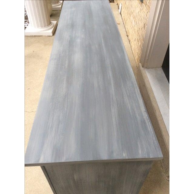 Vintage Distressed Gray Triple Dresser - Image 4 of 6