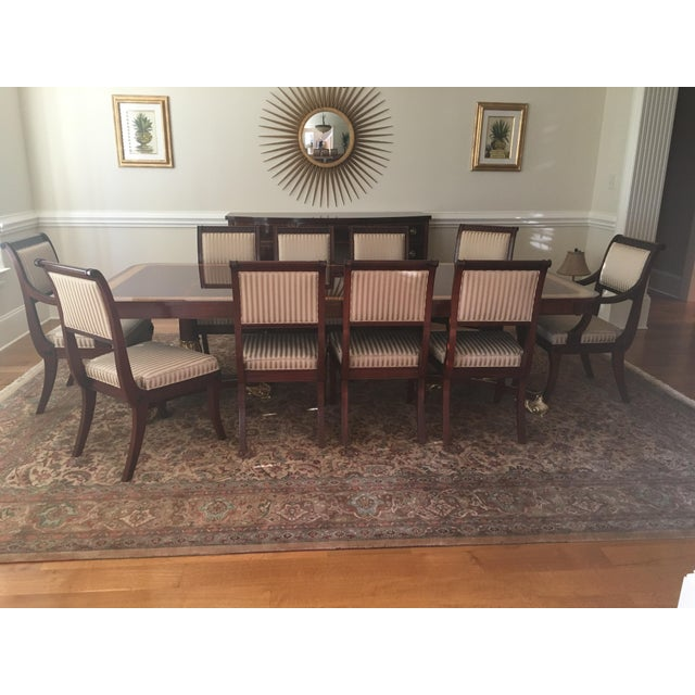 Baker Mahogany & Gold Regency Dining Set - Image 2 of 5