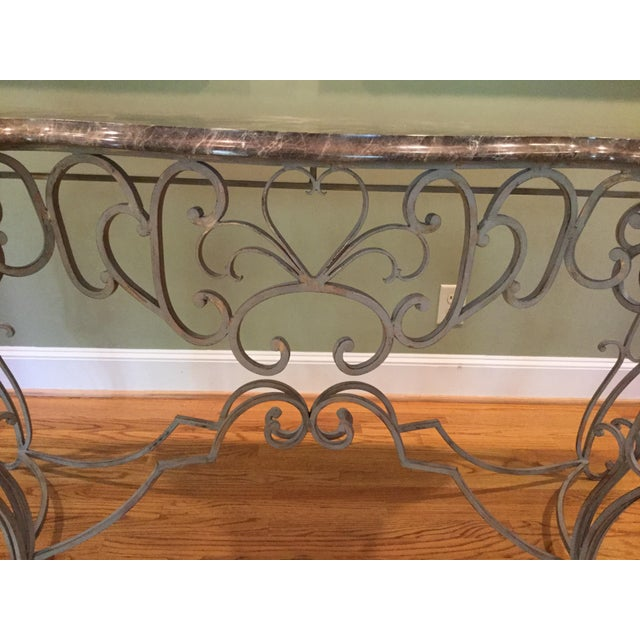 Vintage Marble Top Console - Image 3 of 6