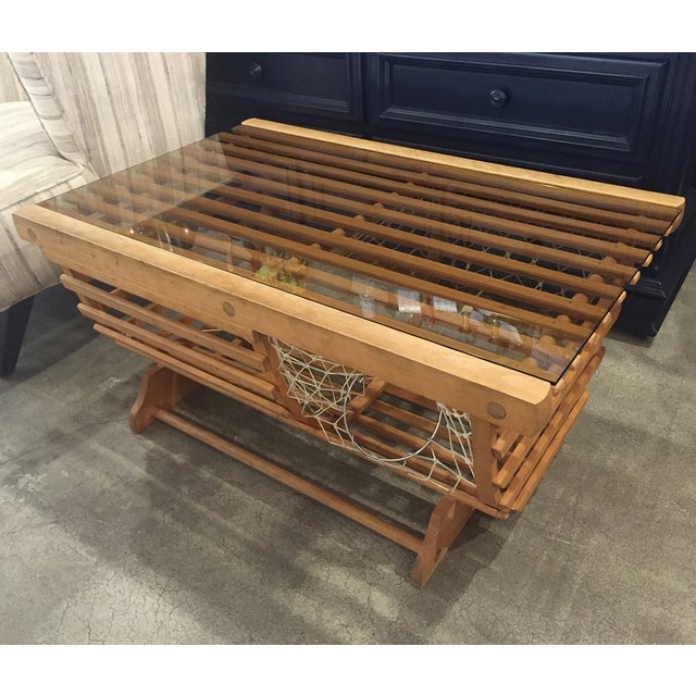 Image of Modern Nautical Lobster Trap Coffee Table
