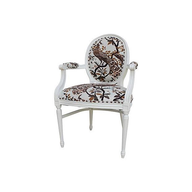Vintage White Peacock Chairs - A Pair - Image 9 of 9