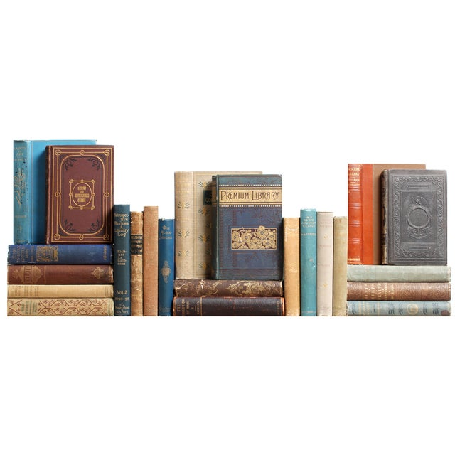 Image of Antique Earthtone Bookshelf - S/23