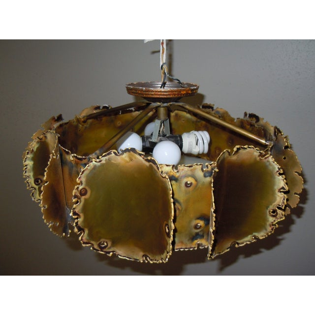 Tom Greene Brutalist Chandelier - Image 2 of 9